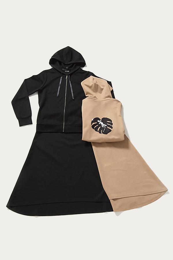 パーカー+ロングスカートセット [Hoodie + long skirt set]